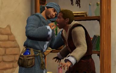 sims medieval ловить пиявок